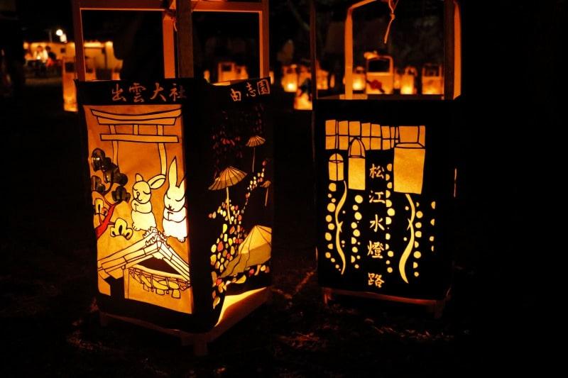 松江城二の丸 行燈