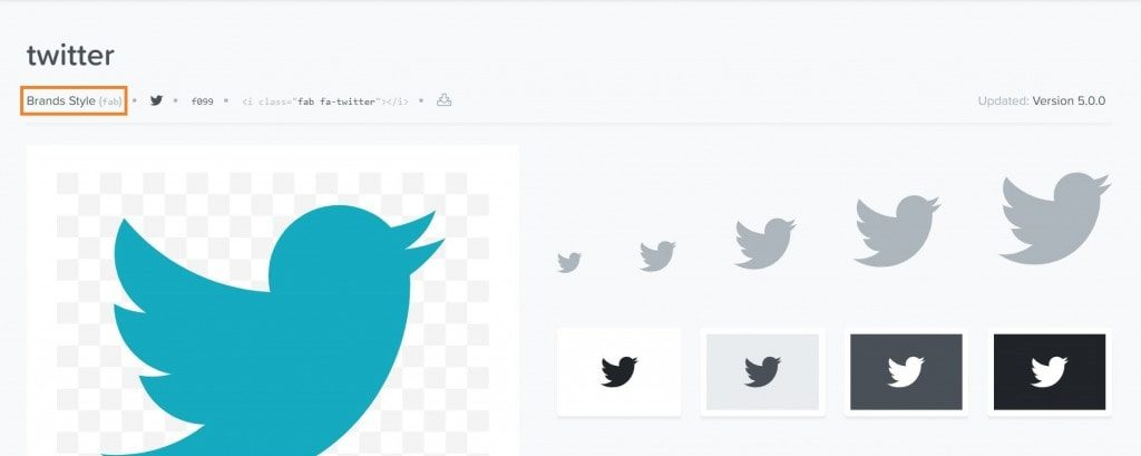 Font Awesome 5 Twitter